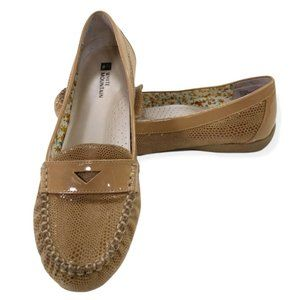 White Mountain Possible Women's Brown Slip On Casual Loafer Shoes Size 7.5 M